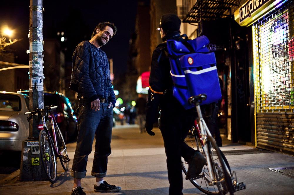 Bill Meier giovane in una strada di Brooklyn (foto WIRED)