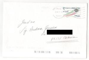 lettera da Bagheria Villa Valguarnera
